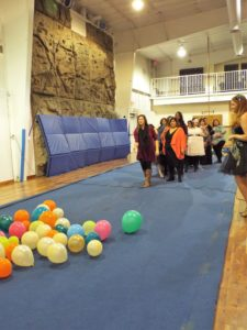 Get Creative! This Was A Great Game For Adults. Balloons Were Pinned To The  Foam Floor, And Everyone Took Turns Throwing Darts To Pop Them.